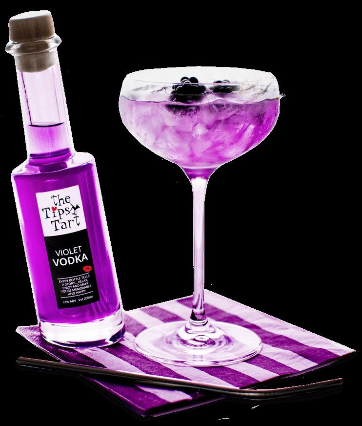 Tipsy Tart Violet vodka